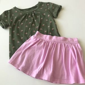 Old Navy shirt & skort set